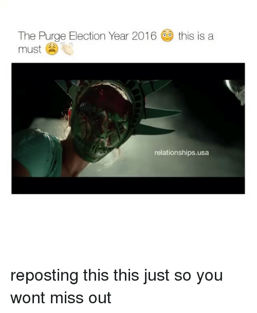 The Purge: The Purge Election Year 2016 this is a  must  i  relationships.usa reposting this this just so you wont miss out