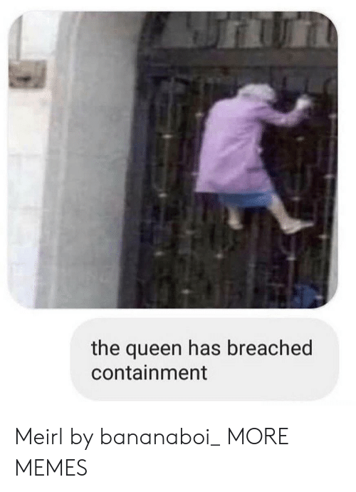 containment: the queen has breached  containment Meirl by bananaboi_ MORE MEMES