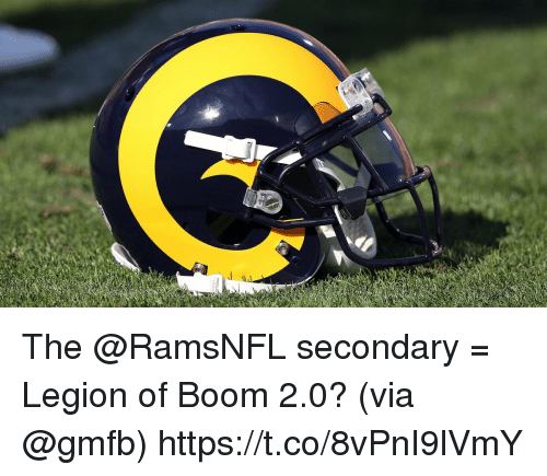 Memes, Boom, and 🤖: The @RamsNFL secondary = Legion of Boom 2.0?  (via @gmfb) https://t.co/8vPnI9lVmY