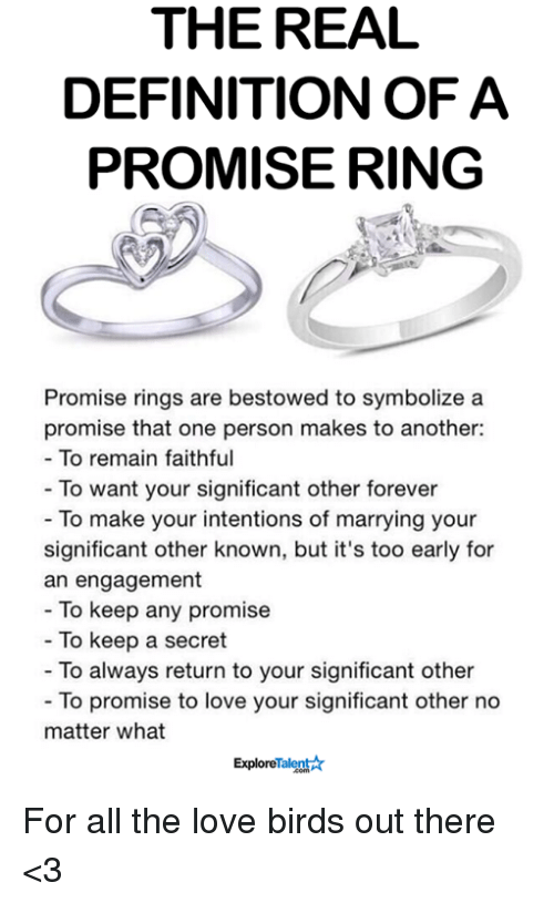 When To Get Your Girlfriend A Promise Ring