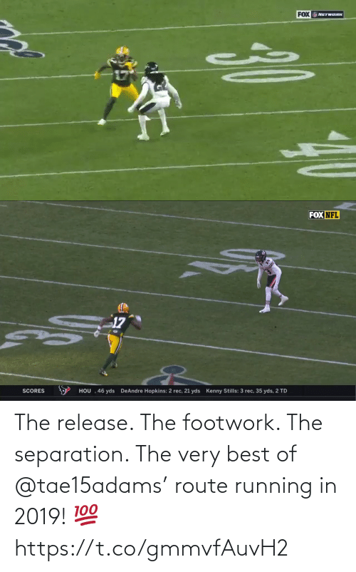 Best Of: The release. The footwork. The separation.   The very best of @tae15adams' route running in 2019! 💯 https://t.co/gmmvfAuvH2