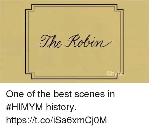 Memes, Best, and History: The Robin One of the best scenes in #HIMYM history. https://t.co/iSa6xmCj0M