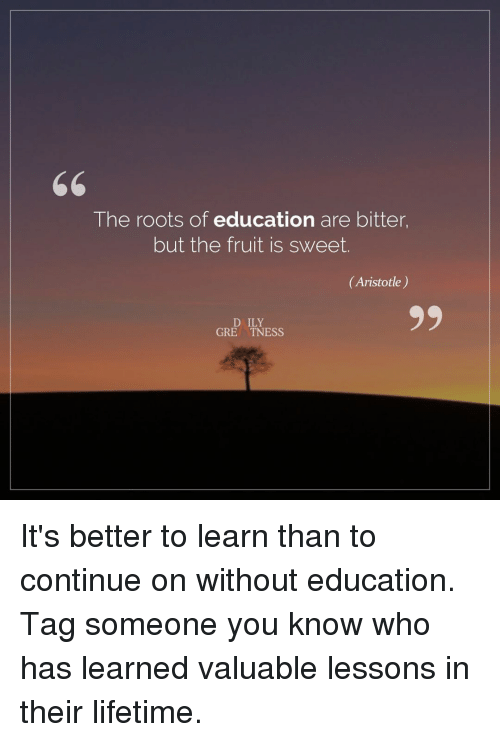 the roots of education are bitter