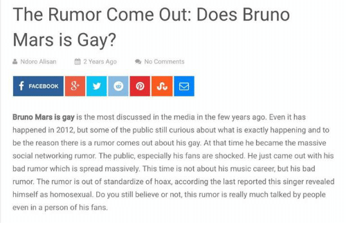 DOES BRUNOS MARS IS GAY