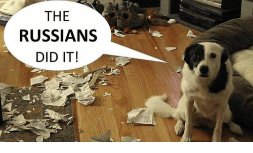 Russians Did It: THE  RUSSIANS  DID IT!