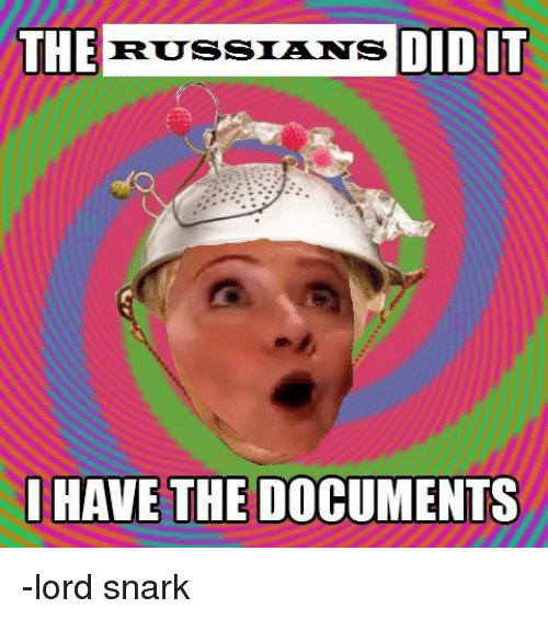 Dank Memes, Russian, and Lord: THE  RUSSIANS  DID IT  HAVE THE DOCUMENTS -lord snark