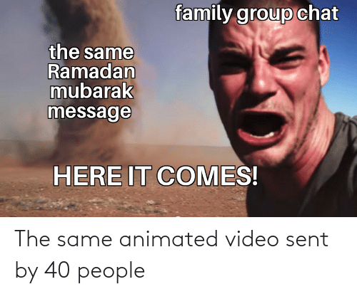Animated: The same animated video sent by 40 people