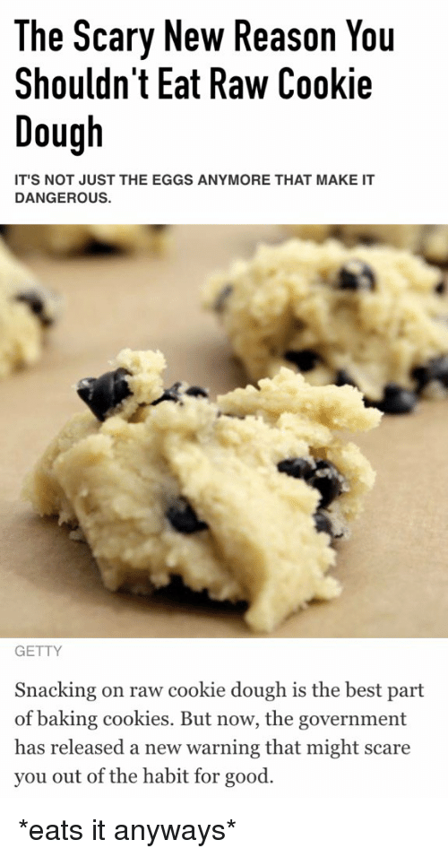 Baked Meme: The Scary New Reason You Shouldn't Eat Raw Cookie Dough IT ...