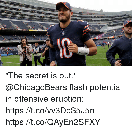 """Memes, 🤖, and Flash: """"The secret is out.""""  @ChicagoBears flash potential in offensive eruption: https://t.co/vv3DcS5J5n https://t.co/QAyEn2SFXY"""