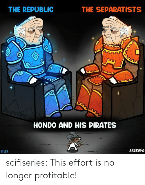 Pirates: THE SEPARATISTS  THE REPUBLIC  SOLIDSNARK  HONDO AND HIS PIRATES  SRGRAFO  scifiseries:  This effort is no longer profitable!