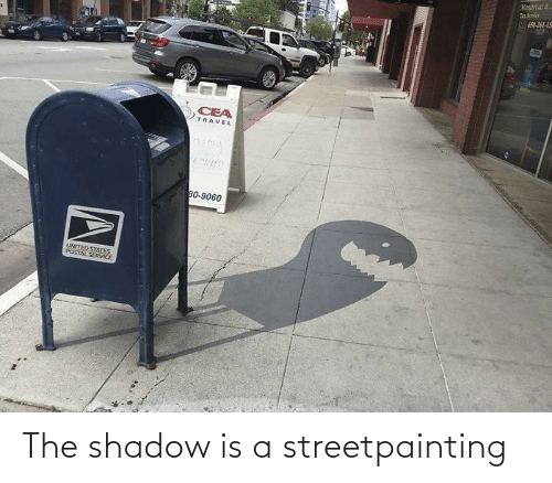 The Shadow: The shadow is a streetpainting