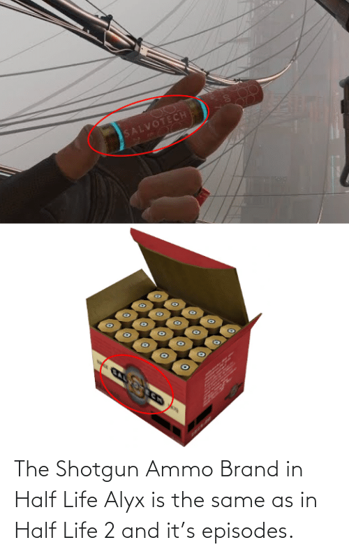 episodes: The Shotgun Ammo Brand in Half Life Alyx is the same as in Half Life 2 and it's episodes.