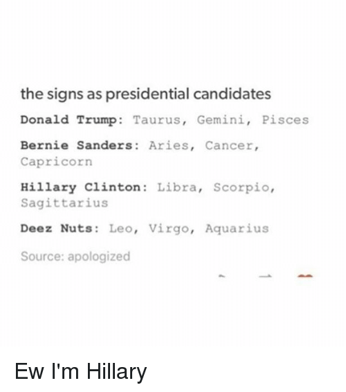 pisces and libra relationship 2016 presidential candidates