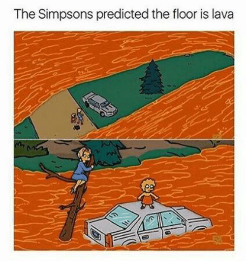 The simpsons predicted the floor is lava the simpsons for Floor me meaning