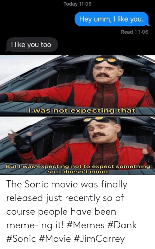 It Memes: The Sonic movie was finally released just recently so of course people have been meme-ing it! #Memes #Dank #Sonic #Movie #JimCarrey