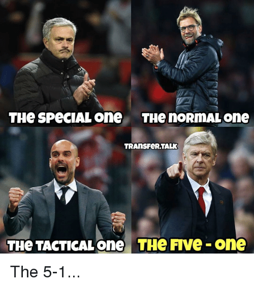 special one: THe SPeCIAL One THe nORmAL one  TRAnsFeR TALK  THe TACTICAL one THe FIVe One The 5-1...