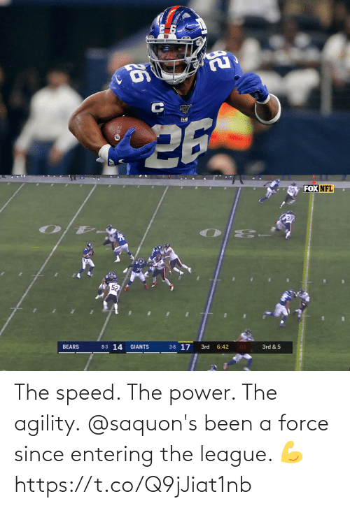 The League: The speed. The power. The agility.  @saquon's been a force since entering the league. 💪 https://t.co/Q9jJiat1nb