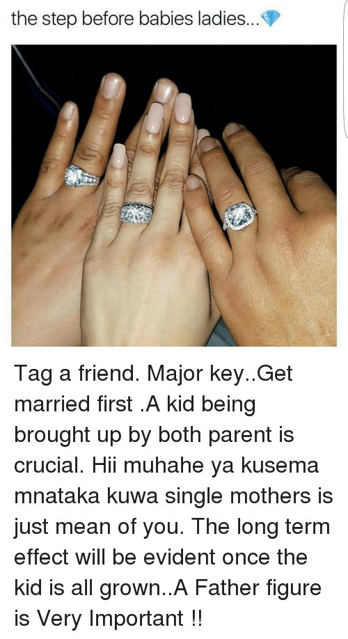 married but single parent For example, if your mom or dad is a single parent you may have depended on your parents for 20 years but have been married only one when parents want to reattach.