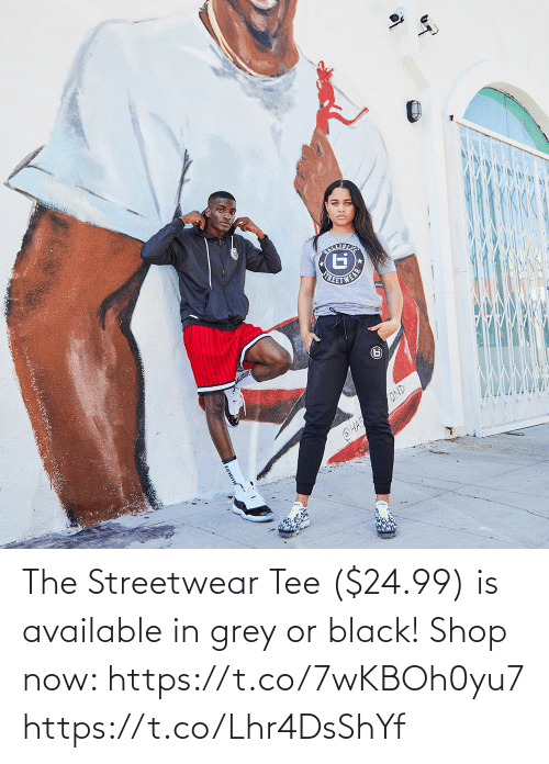 tee: The Streetwear Tee ($24.99) is available in grey or black!  Shop now: https://t.co/7wKBOh0yu7 https://t.co/Lhr4DsShYf