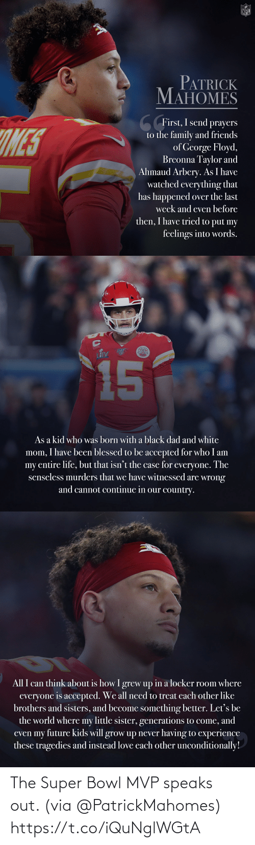 Speaks: The Super Bowl MVP speaks out. (via @PatrickMahomes) https://t.co/iQuNglWGtA