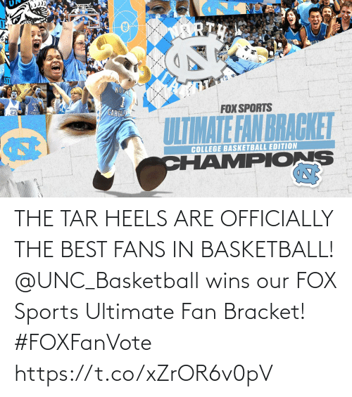 Basketball: THE TAR HEELS ARE OFFICIALLY THE BEST FANS IN BASKETBALL!  @UNC_Basketball wins our FOX Sports Ultimate Fan Bracket! #FOXFanVote https://t.co/xZrOR6v0pV