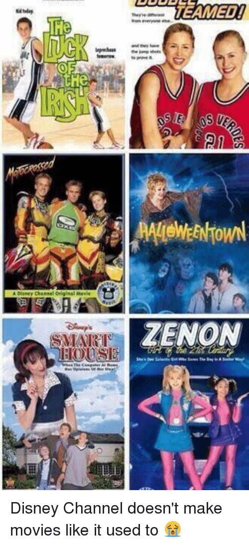 Disney Channel: THe  the  TEAMED!  ZENON Disney Channel doesn't make movies like it used to 😭
