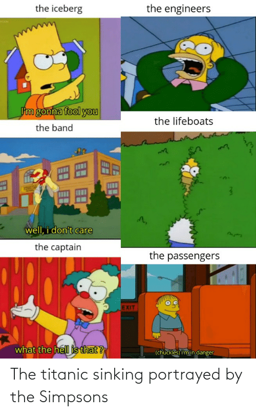 Titanic: The titanic sinking portrayed by the Simpsons