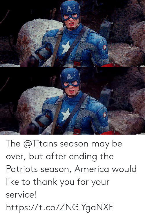 Patriotic: The @Titans season may be over, but after ending the Patriots season, America would like to thank you for your service! https://t.co/ZNGlYgaNXE