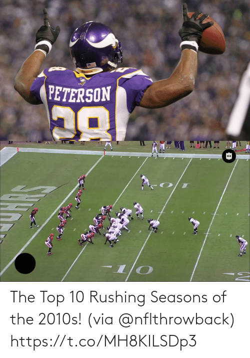 Seasons: The Top 10 Rushing Seasons of the 2010s! (via @nflthrowback) https://t.co/MH8KILSDp3