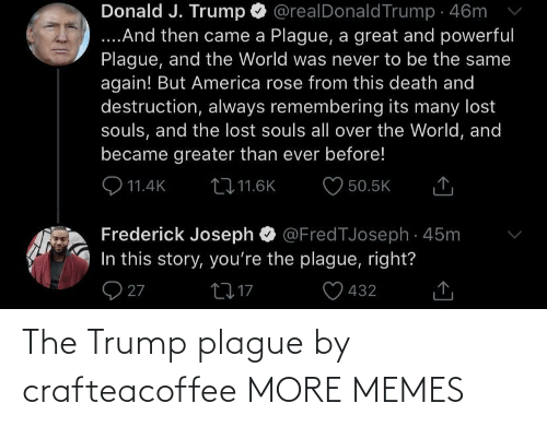 plague: The Trump plague by crafteacoffee MORE MEMES