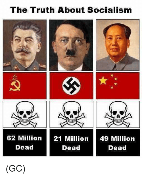 Memes, Socialism, and Truth: The Truth About Socialism  0)  62 Million  Dead  21 Million  Dead  49 Million  Dead (GC)