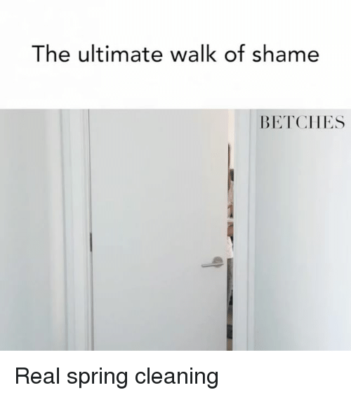 Spring, Girl Memes, and Walk of Shame: The ultimate walk of shame  BETCHES Real spring cleaning