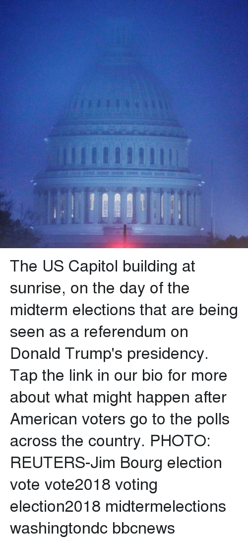 Reuters: The US Capitol building at sunrise, on the day of the midterm elections that are being seen as a referendum on Donald Trump's presidency. Tap the link in our bio for more about what might happen after American voters go to the polls across the country. PHOTO: REUTERS-Jim Bourg election vote vote2018 voting election2018 midtermelections washingtondc bbcnews