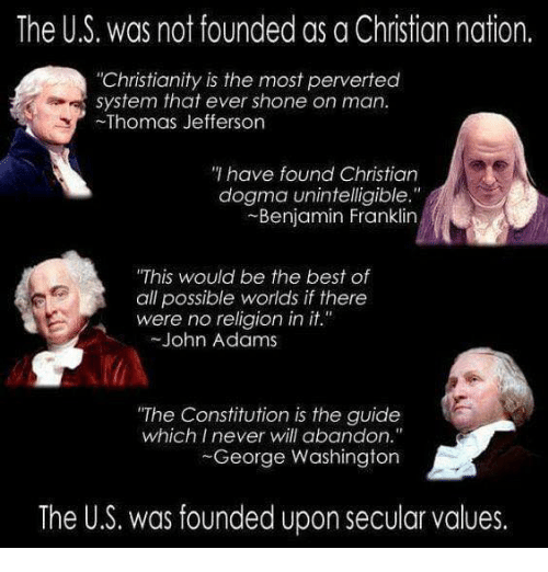 Image result for thomas jefferson christianity is the most perverse