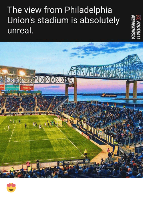 Xfinity: The view from Philadelphia  Union's stadium is absolutely  unreal  TA  xfinity 😍