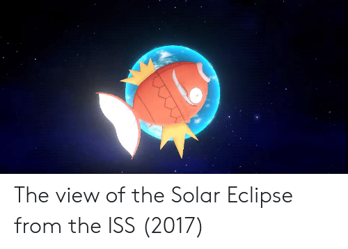 The View: The view of the Solar Eclipse from the ISS (2017)