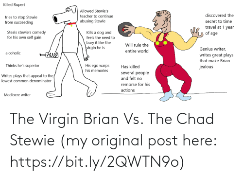 bit.ly: The Virgin Brian Vs. The Chad Stewie (my original post here: https://bit.ly/2QWTN9o)
