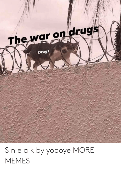 Drugs: The war on drugs  Drugs S n e a k by yoooye MORE MEMES