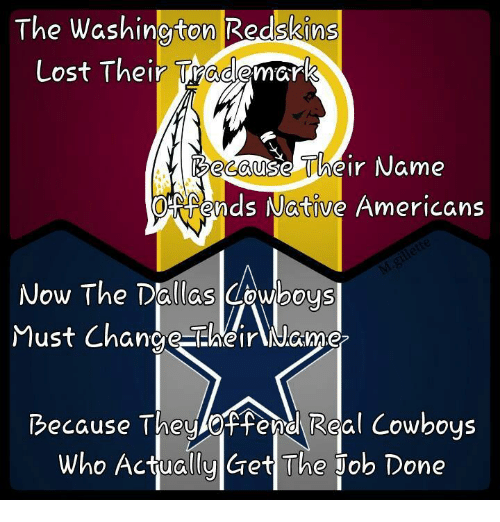 the washington redskins lost their trademark because their name ohraends 18132305 🔥 25 best memes about washington redskins washington redskins