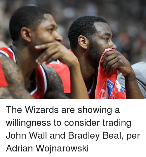 bradley beal: The Wizards are showing a willingness to consider trading John Wall and Bradley Beal, per Adrian Wojnarowski