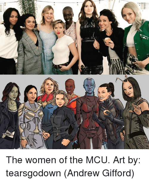 Memes, Women, and 🤖: The women of the MCU. Art by: tearsgodown  (Andrew Gifford)