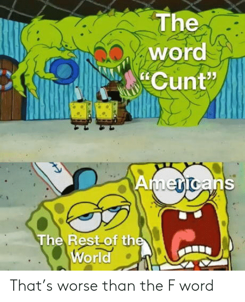 "Cunt: The  word  Cunt""  Americans  The Rest of the  World That's worse than the F word"