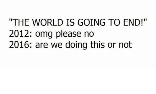 Is 2012 going to be the end of world?