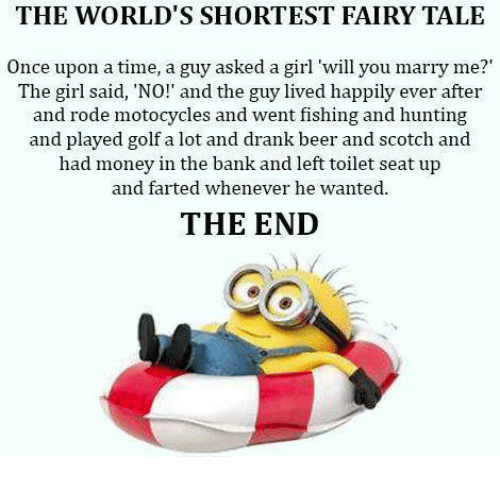 worlds shortest fairy tale