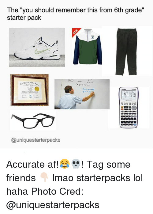 """Af, Friends, and Lmao: The """"you should remember this from 6th grade""""  starter pack  000000  @unique starterpacks Accurate af!😂💀! Tag some friends 👇🏻 lmao starterpacks lol haha Photo Cred: @uniquestarterpacks"""