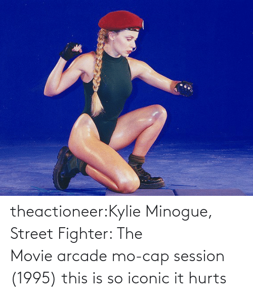 fighter: theactioneer:Kylie Minogue, Street Fighter: The Movie arcade mo-cap session (1995) this is so iconic it hurts