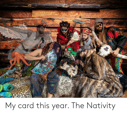 nativity: @thecaptain official My card this year. The Nativity