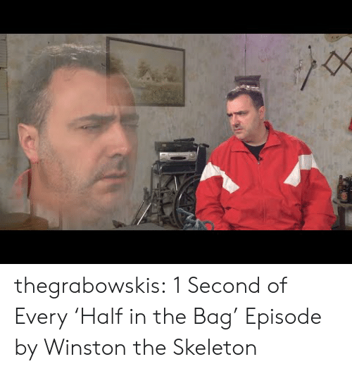 1 Second: thegrabowskis:  1 Second of Every'Half in the Bag' Episode by Winston the Skeleton