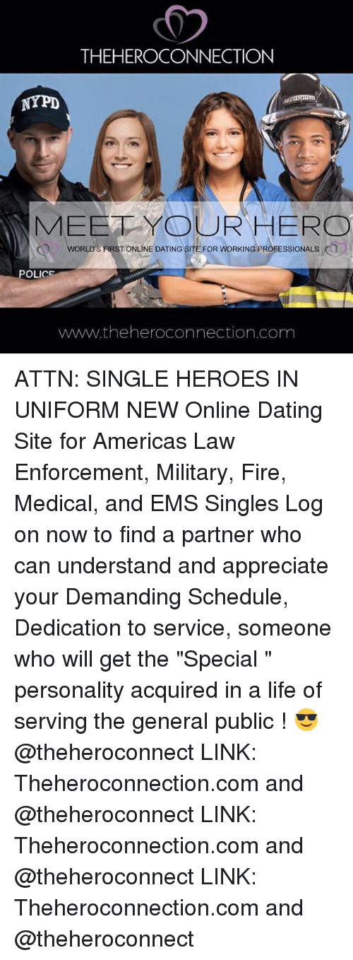 Law enforcement dating services