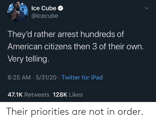 Priorities: Their priorities are not in order.